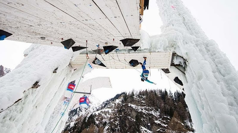 UIAA Ice Climbing World Cup #3, Saas-Fee VS