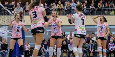 Playoff 1/2-Final, Spiel 1: Sm'Aesch Pfeffingen - VC Kanti Schaffhausen