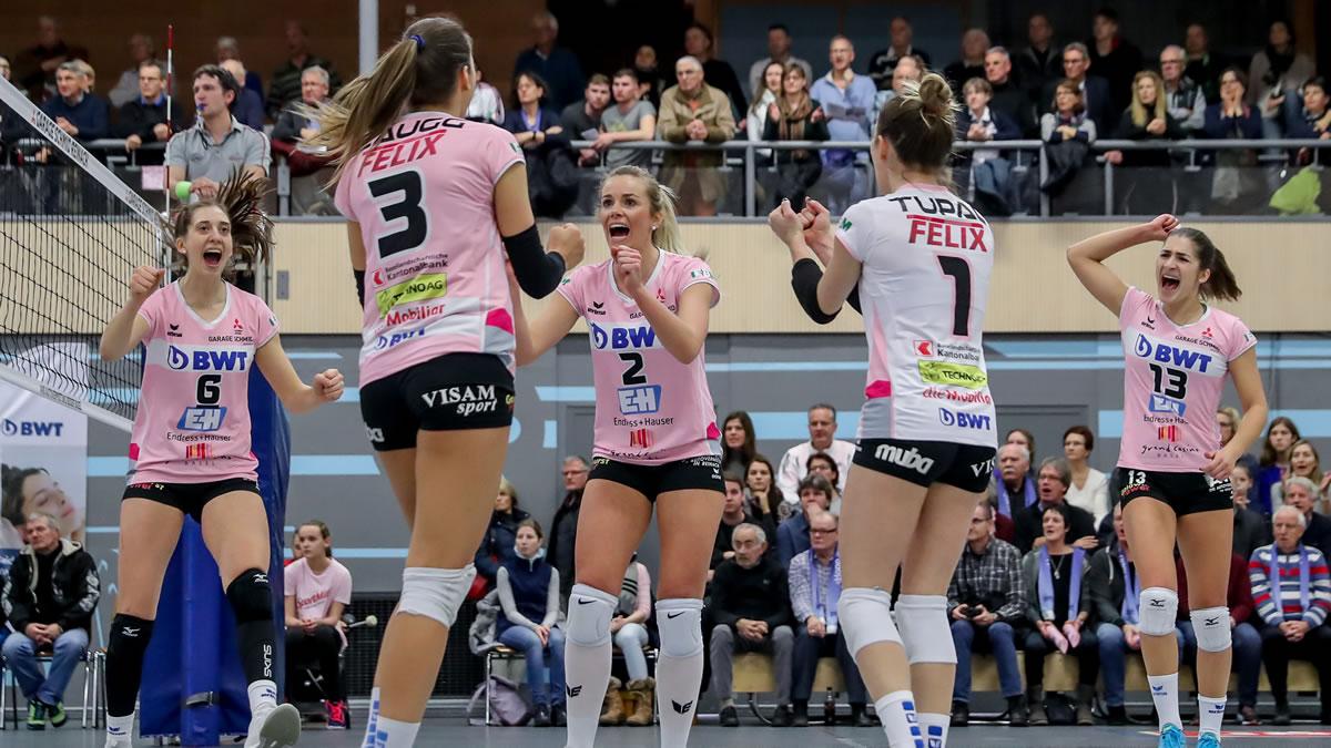 Playoff 1/4-Final, Spiel 1: Sm'Aesch Pfeffingen – Genève Volley