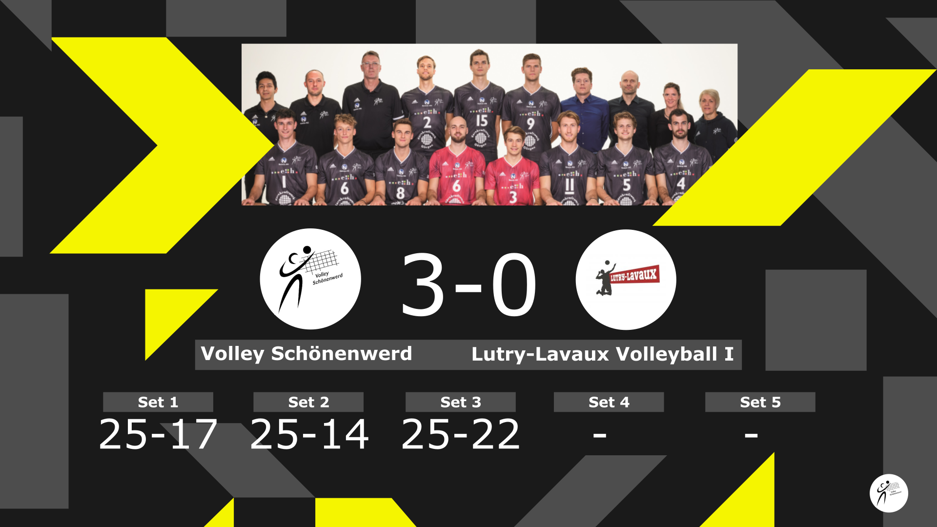 Volley Schönenwerd – Lutry-Lavaux Volleyball