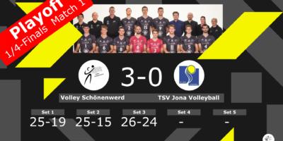 Playoff 1/4-Final, Spiel 1: Volley Schönenwerd - TSV Jona Volleyball