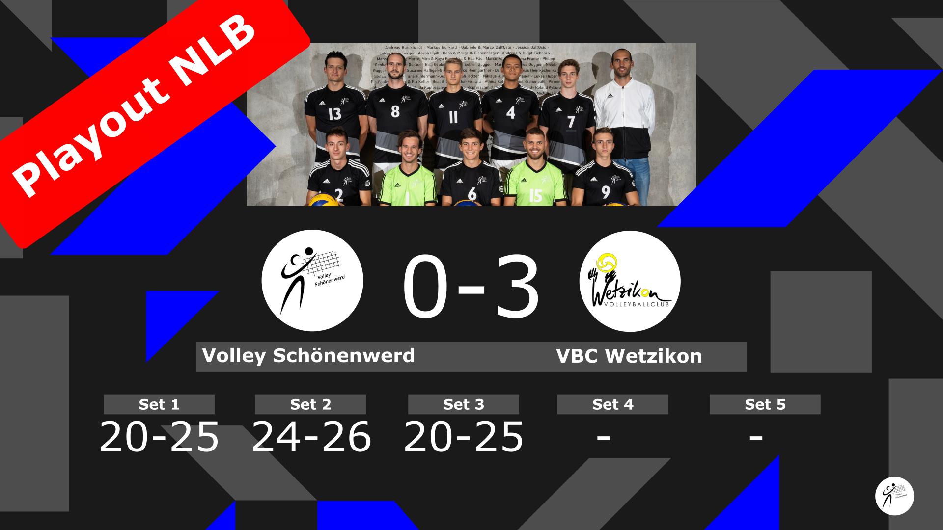 NLB Playout: Volley Schönenwerd II – VBC Wetzikon