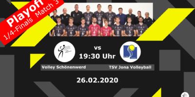 Playoff 1/4-Final, Spiel 3: Volley Schönenwerd - TSV Jona Volleyball