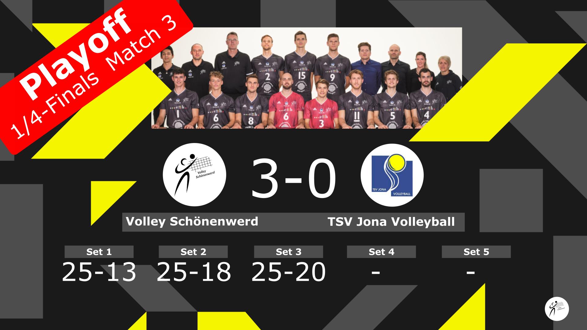 Playoff 1/4-Final, Spiel 3: Volley Schönenwerd – TSV Jona Volleyball