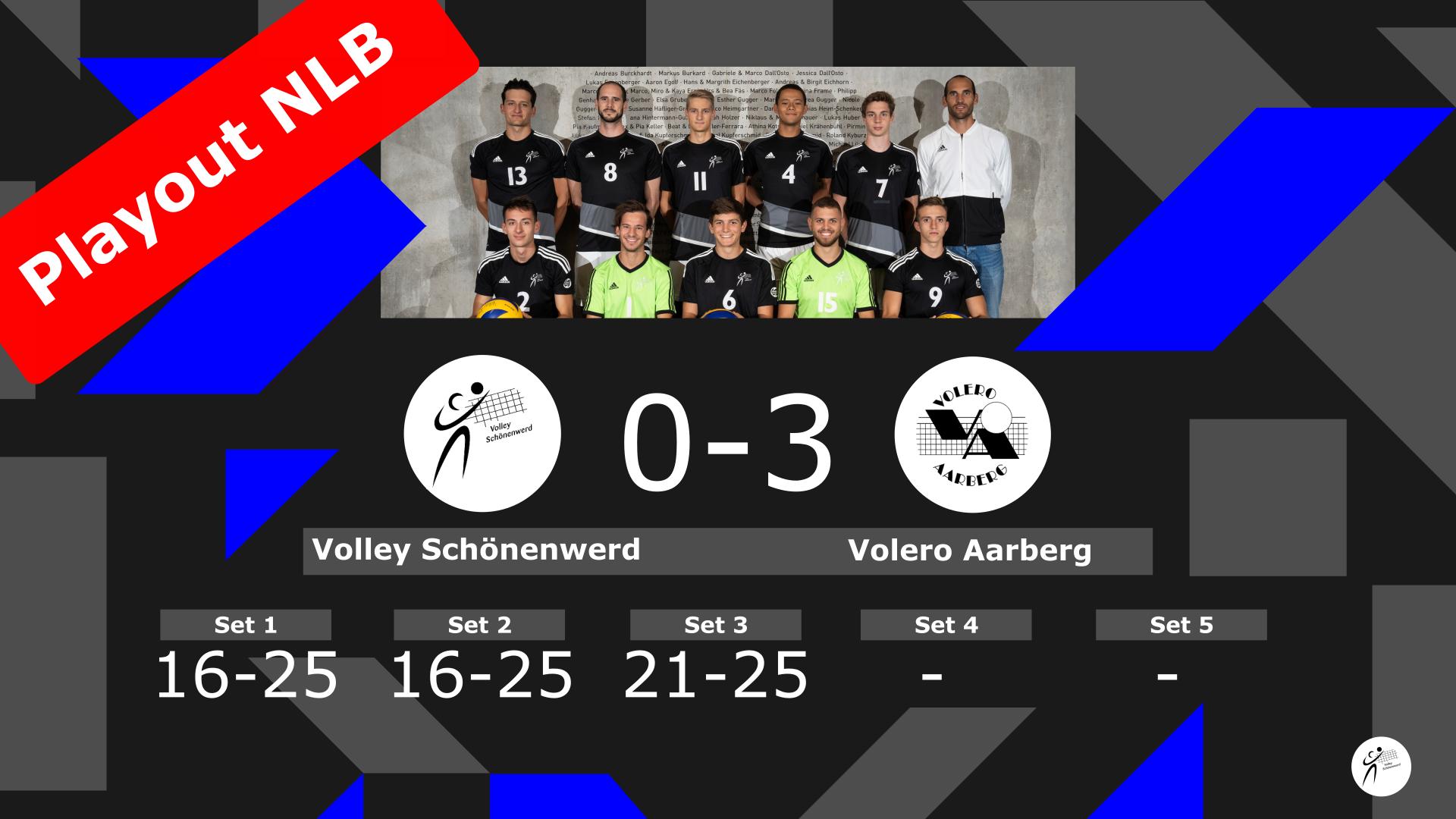 NLB Playout: Volley Schönenwerd II – Volero Aarberg