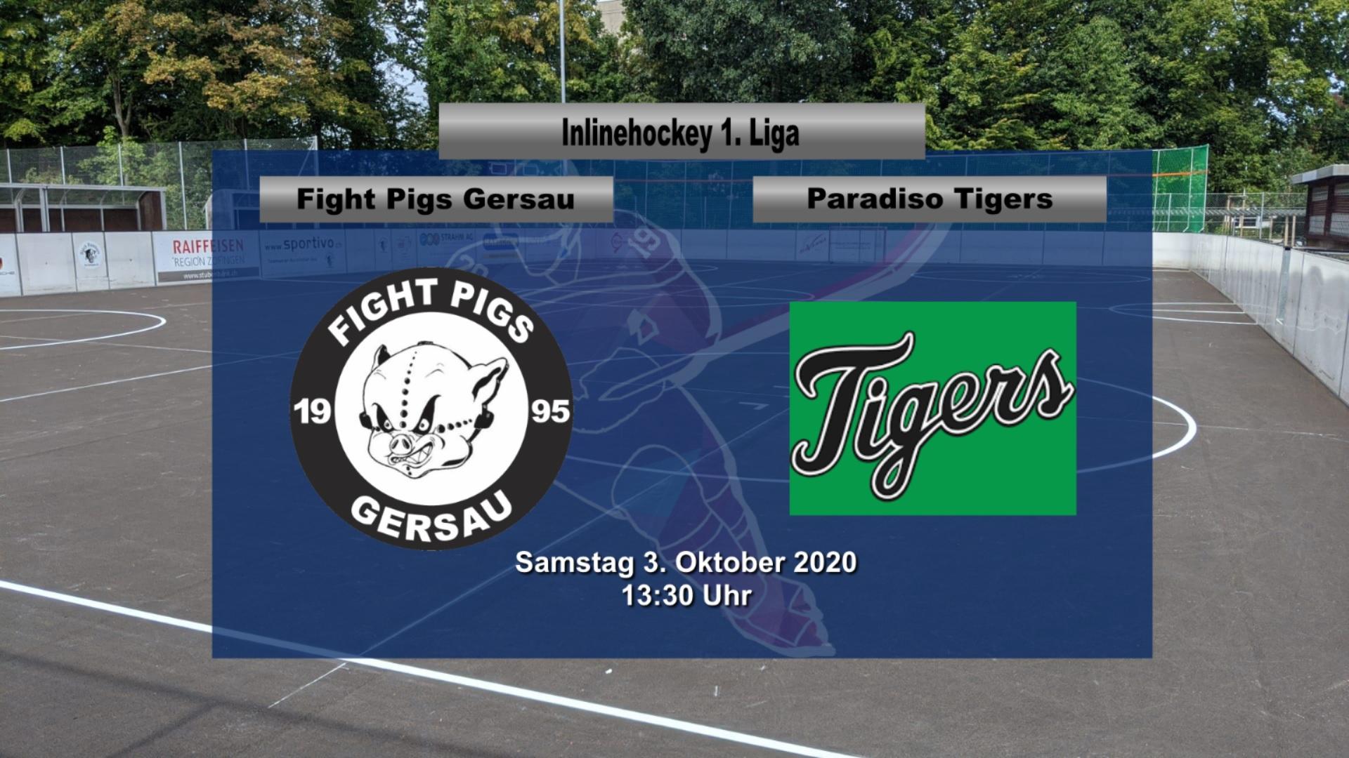Inline Hockey 1. Liga Herren: Fight Pigs Gersau – Paradiso Tigers