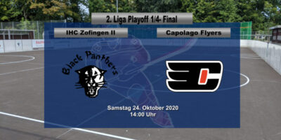Inline Hockey 1. Liga Herren: IHC Zofingen Black Panthers - Capolago Flyers