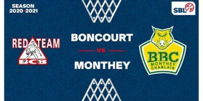 SB League - Day 16: BONCOURT vs. MONTHEY