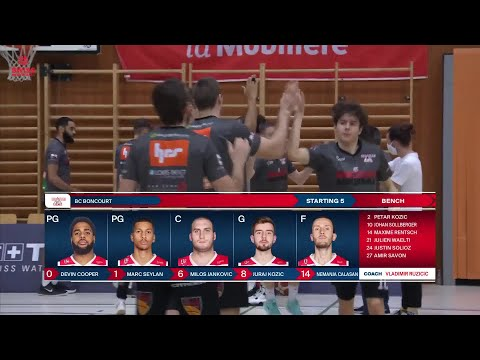 Union Neuchâtel Basket vs. BC Boncourt – Game Highlights