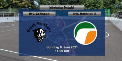 Inline Hockey Testspiel: IHC Zofingen Black Panthers - IHC Rothrist 2