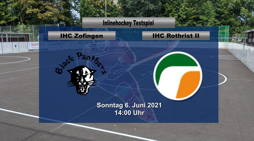 Inline Hockey Testspiel: IHC Zofingen Black Panthers – IHC Rothrist 2